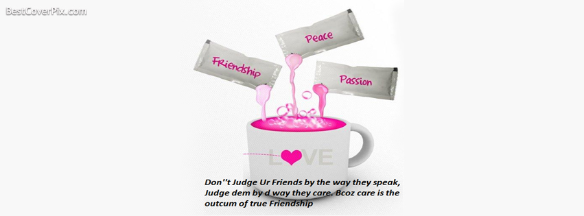 Friendship Peace Passion Facebook Cover Photo