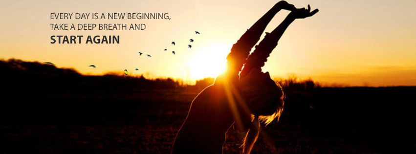 start of the day Facebook cover
