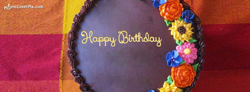 happy birthday cake fb cover