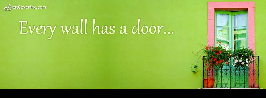 every wall has a door fb cover