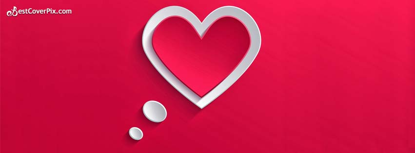 In Love Stylish And Super Cool Heart Shape Facebook Cover