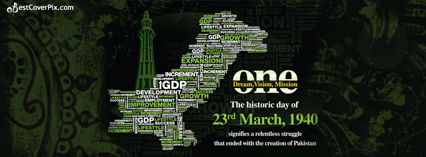 Cute Wallpapers For Facebook Profile Picture For Boys With Quotes 23rd March 1940 Creation Of Pakistan Fb Cover Photo