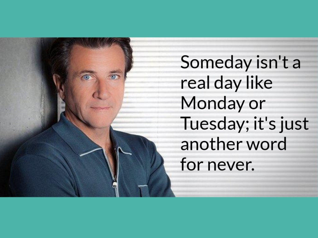 Robert Herjavec Quote Someday is not a real day