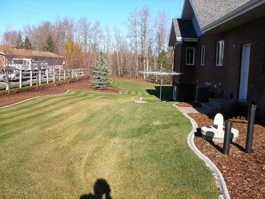 good layout- no mowing obstacles