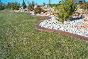 stamped curb in big landscape