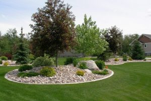 curb works fine for mounded beds