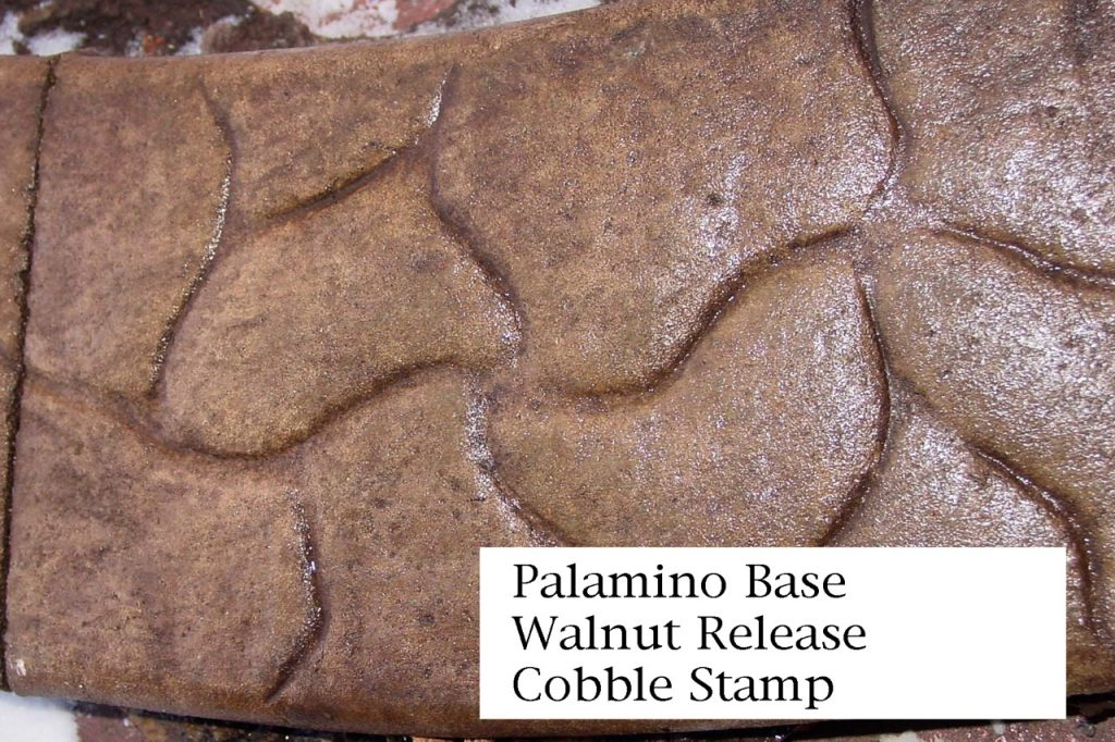 Base-  palomino Release-  walnut Stamp- cobble  curb