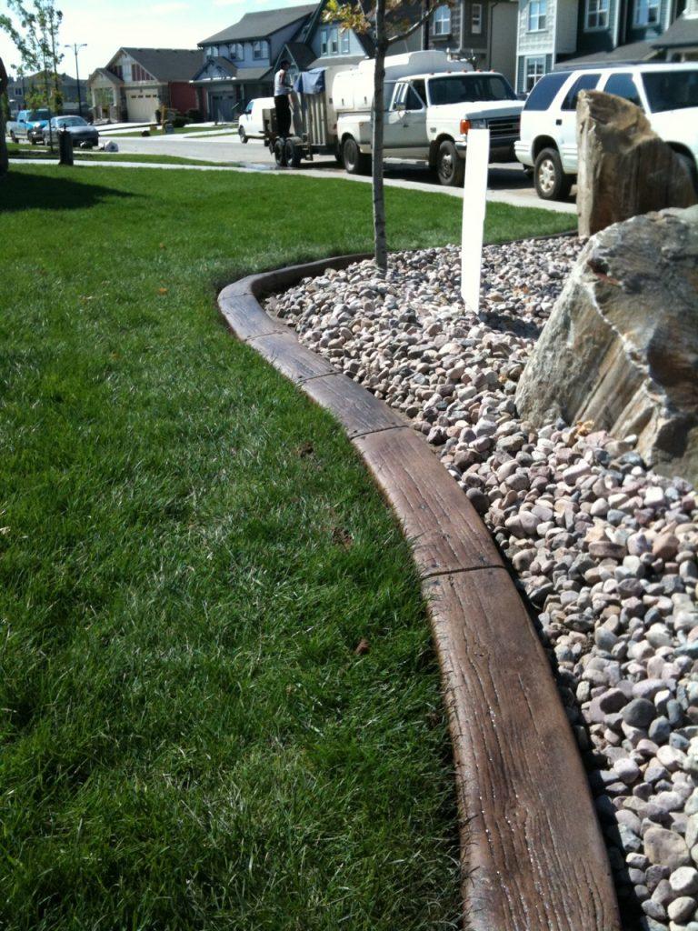 cool woodgrain texture curb