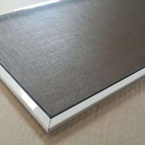 Window Screen with White frame springs and black pull tabs