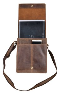 Handolederco Leather Messenger Satchel