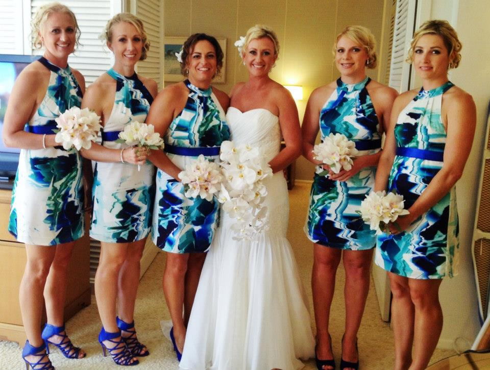 2013 Hawaii Bridesmaids Dress Trends