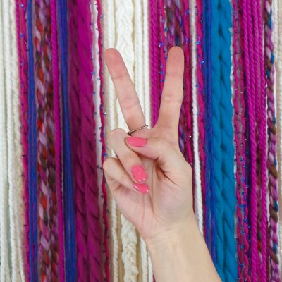 Get Crafty and DIY Your Own Yarn Wall Hanging
