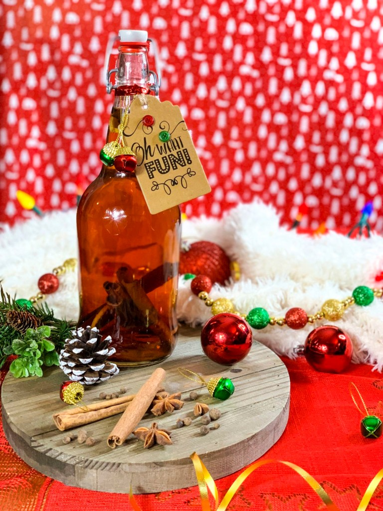 DIY Spiced Rum with Eggnog