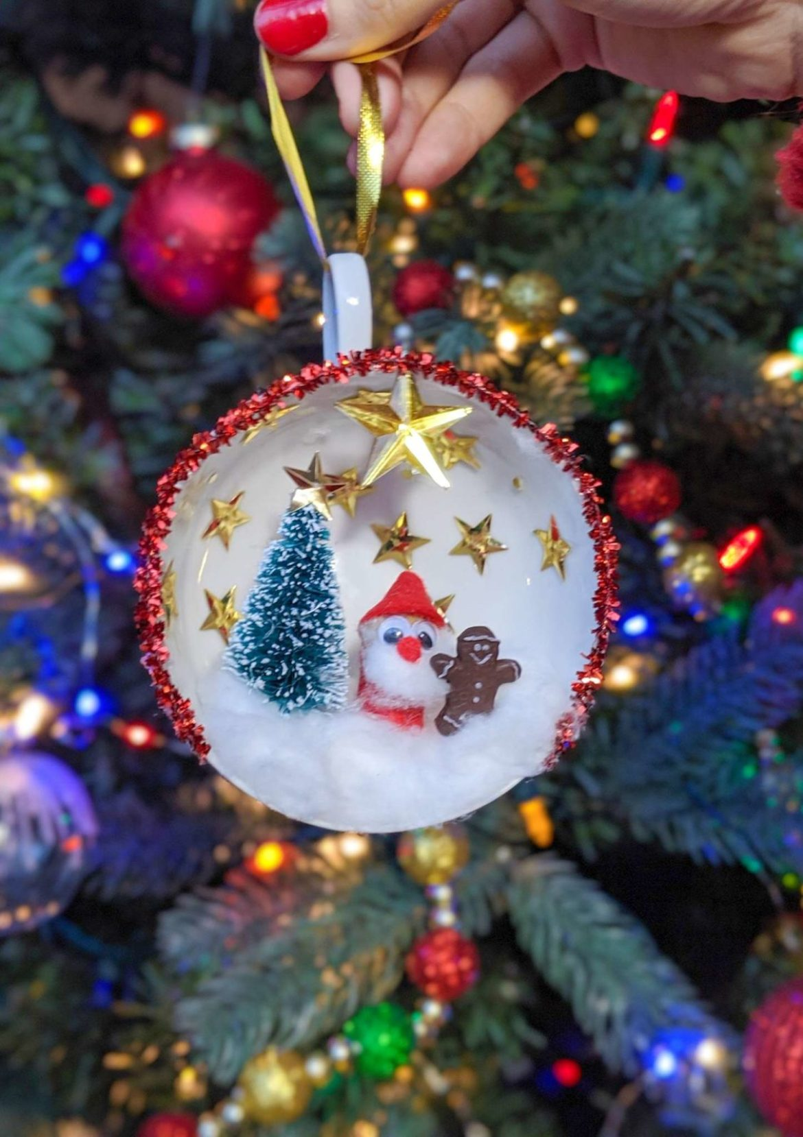 DIY Teacup Christmas Ornaments