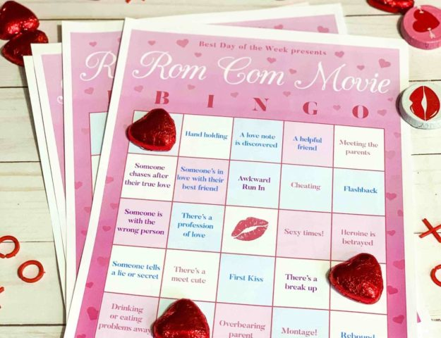Rom Com Movie Bingo