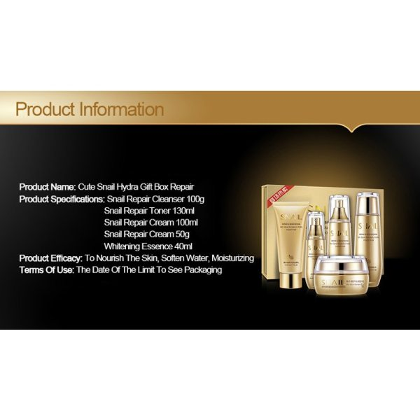 048170393446 Bioaqua Gold Snail Skin Nourishing Moisturizing Care Set