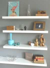 Floating White Wall Shelves | Best Decor Things