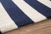 Blue And White Striped Area Rug - Rugs Ideas