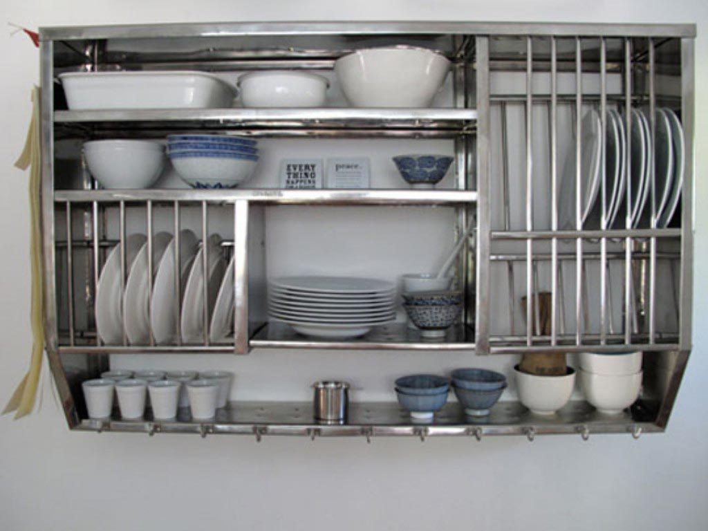 open metal shelving kitchen buy white cabinets wall shelves best decor things