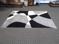 Area Rug Black And White
