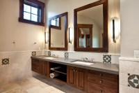 Framed Bathroom Mirrors Double