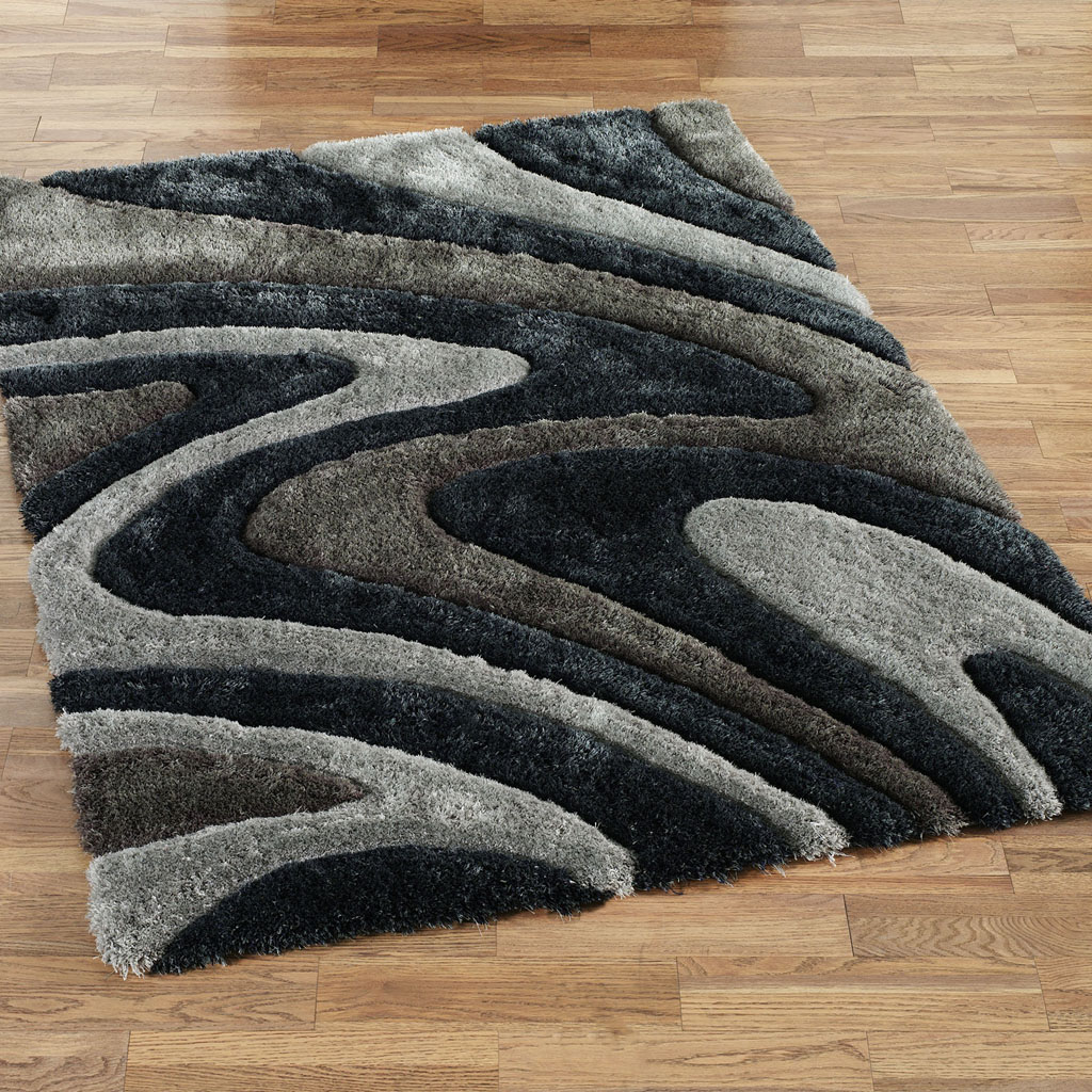 Black And White Area Rug 810
