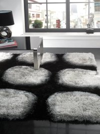 Black And White Area Rug Contemporary