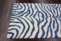 Blue Zebra Print Rug | Best Decor Things