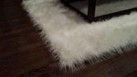 Faux Sheepskin Area Rug White | Best Decor Things