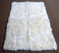 Faux Sheepskin Rug White | Best Decor Things