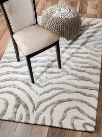Gray Zebra Print Rug | Best Decor Things