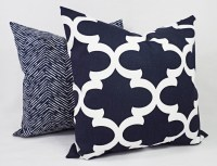 Navy Blue And White Decorative Pillows | Best Decor Things