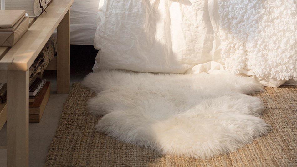 White Sheepskin Rug IKEA  Best Decor Things