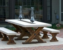 Wood And Metal Patio Furniture Decor
