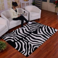 Zebra Print Throw Rug | Best Decor Things