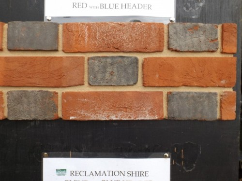 Reproduction Bricks Reclamation Soft Reds with Blue Heads