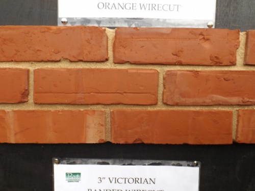 Reproduction Bricks Orange Wirecut