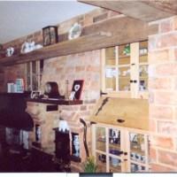 Red Kiln Brick & Reclaimed Oak Fireplace