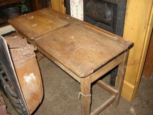 Double Oak School Desk