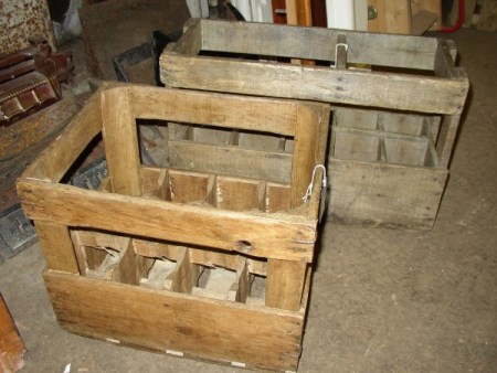 French Wine Bottle Crates