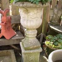 Urn on Rose Plinth
