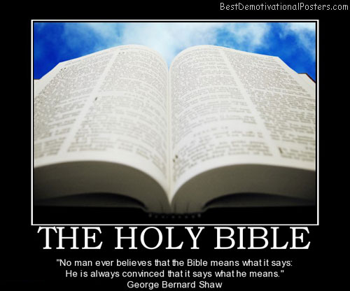The Holy Bible Demotivational Poster