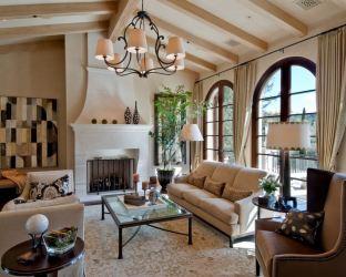 mediterranean living room decor italian warm