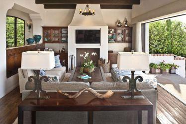 living room mediterranean furniture sofa table floor natural materials lamp lamps behind heating cooling denver drum shade companies minimalist accent