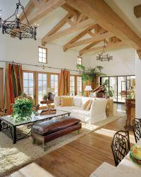 living room mediterranean wooden decoration charming very bestdesignideas beams