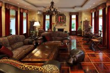 African Decor Living Room Idea