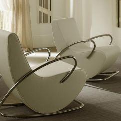 Modern White Chair Yoga Poses At Work Rocking Interior