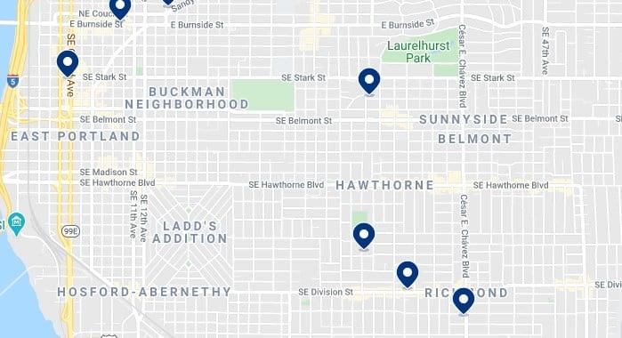 Alojamiento en Buckham Neighborhood y cerca de Hawthorne Boulevard - Haz clic para ver todo el alojamiento disponible en esta zona