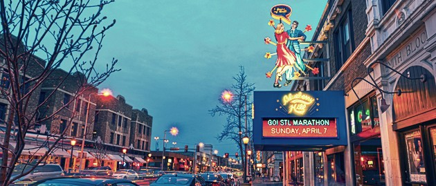 Best area to stay in St Louis for nightlife - Delmar Loop