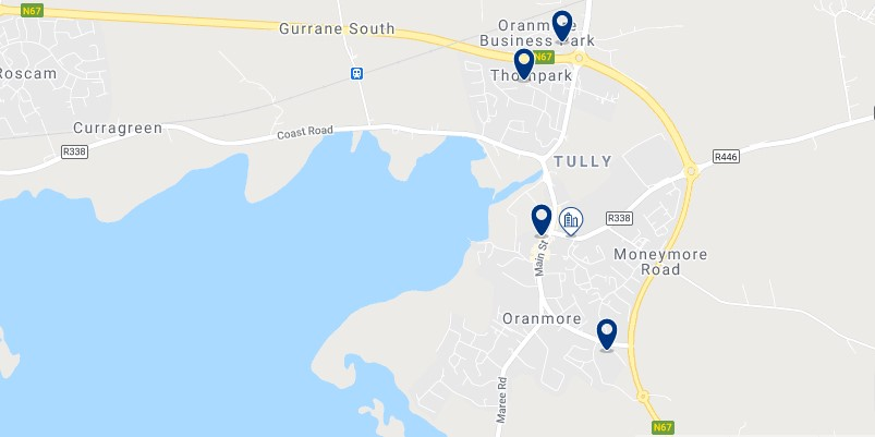 Accommodation in Oranmore - Click on the map to see all the accommodation in this area